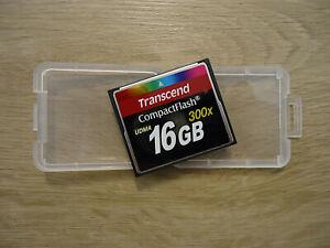 TRANSCEND: 16GB COMPACT-FLASH-KARTE, SPEED 300x, UDMA, SPEICHERKARTE, GEBRAUCHT!