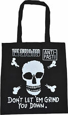 EXPLOITED ANTI PASTI DON'T LET 'EM GRIND YOU DOWN SKULL PIRATE PUNK TOTE BAG