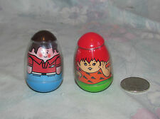 1977 Vintage Hasbro Weebles Flintstones Pebbles figure and extra guy 1973