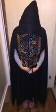 Vintage Cliche Montreal Hooded Black Long Cape Cloak H. Seidman Canada S