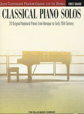 John Thompson's Classical Piano Solos First 1st Grade Sheet Music Book Baroque