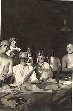WWII German RP- Panzer Soldier- Semi Nude- Pajamas- Rifle- Helmet- Hazing