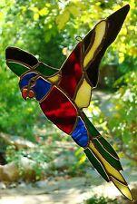 RAINBOW LORIKEET STAINED GLASS leadlight suncatcher AUSTRALIAN BIRD DESIGNS