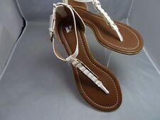9aa292f79b6 BP Nordstrom Women s - sz 8 -   Leather Sandals brass buckle zipper ...
