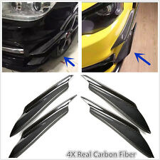 4X Real Carbon Fiber Front Bumper Splitter Fins Canards Splitters for Mitsubishi