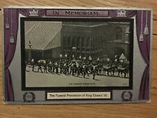 Postcard of the Funeral Procession of King Edward VII, 1910