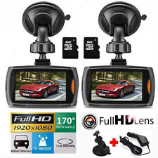 "2Pack 2.7"" Full HD 1080P Car Dash DVR Camera Video Recorder Cam Night Vision"