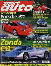 sport auto 8/99 1999 Zonda C12 BMW M Roadster Engstler Alfa 156 911 GT3 Boxster