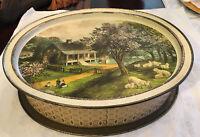 "Vintage Americana Sunshine Biscuit Tin14""x12""x4"""