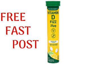 Holland & Barrett VITAMIN D FIZZ 25µg  Lemon & Lime Flavour 20Tablets