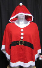 Ladies Little Red Santa Cape with Hood Large 12 - 14