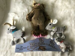 The Puppet Company The 3 Billy Goats Gruff & Troll Plush Puppets & Story Superb