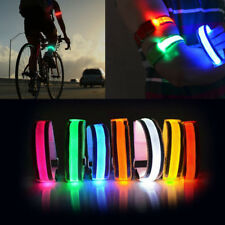Night Safety Warning Running LED Arm Band Glowing Wristband Flash Light Bracelet