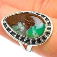Boulder Chrysoprase 925 Sterling Silver Ring Size 7.75 Ana Co Jewelry R48051F