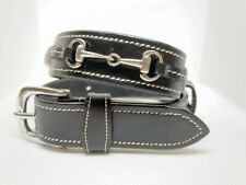 Horse Riding Belt, Equestrian Belt, Black Leather Girls and Ladies Sizes