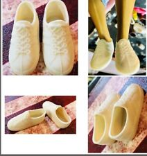 Vintage Ken Doll Soft Plastic Slip-on Tennis Shoes/Sneakers Tied Lace Look 70's