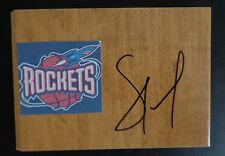 SAM CASSELL Signed HOUSTON ROCKETS Basketball NBA Floor Tile FREE SHIPPING