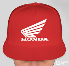 NEW Honda Trucker Hat Cap Mesh Adjustable Snap Back Black Racing Red Motorcycle