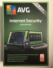 AVG INTERNET SECURITY 2019 UNLIMITED DEVICES 1 YEAR New BOX FAST SHIPPING! ✈️
