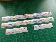 Toyota Starlet Glanza V Silver Neo Hologram Chrome Replacement Decals Stickers