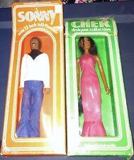 1976 Mego Sonny & Cher celebrity dolls, both Nrfb