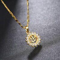 Gold Muslima Muslimische Allah islamische Sonne Halskette Gott Schmuck Geschenk