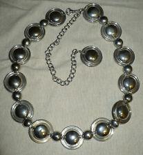 Vintage Silver Finish Chain Belt