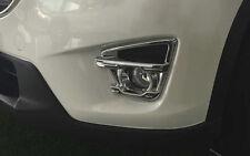 Chrome Front Fog Light Lamp Full Cover Trim 2pcs For Mazda CX-5 CX5 2016