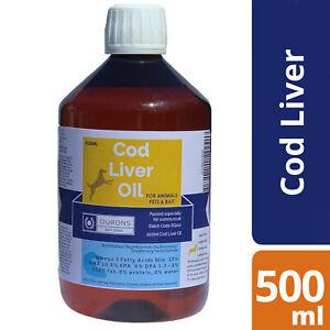 Cod Liver Oil for Dogs - Pure Fish Oil  500ml