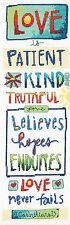 Cross Stitch Kit ~ Dimensions Love Is Corinthians Bible Verse #70-35345