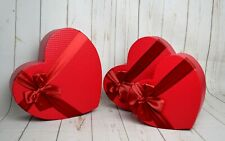 Heart Shape Florist Hat Boxes Red x 3 Valentines Flowers Gifts Vase
