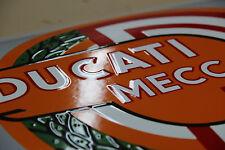 Plaque Emaillée Ducati Meccanica 60x40 cm.