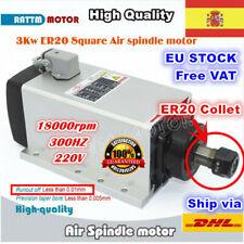 【ES】3KW ER20 220V Square Air Cooled CNC Spindle Motor Engrave Milling Router