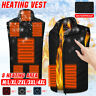 Uomo Donna Gilet Riscaldante Elettrico USB Riscaldato Giacca 4/8 Heating Area