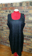 TS Crinkle Cut dress black/deep purple  size 16 Brand new with tags