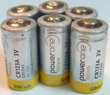 6X Lithium powerone (varta) 3V CR17345 CR123A CR123 DL123A DL123 EL123A EL123AP