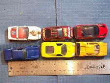 TOY CARS LOT 6 WHITE NFL BENGALS; RED EXPERT RACER; RED SIMPLE HOT WHEELS; BLUE;