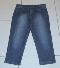 Womens size 14 stretch cropped denim jeans made by ROCKMANS