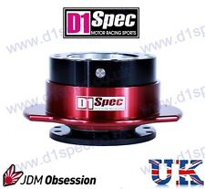 D1 SPEC UNIVERSAL RACING PADDLE STEERING WHEEL QUICK-RELEASE BLACK/RED JDM DRIFT