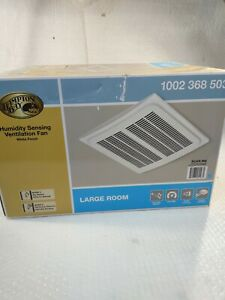 Hampton Bay 140 CFM Ceiling Humidity Sensing Bathroom Exhaust Fan, Engergy Star