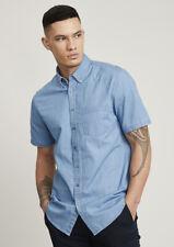 Biz Collection Indie Mens Short Sleeve Denim Shirt 100% Cotton sleek appearance