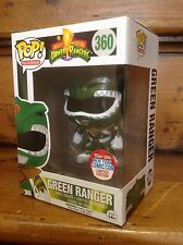 Funko Pop! POWER RANGERS NYCC Metallico Verde RANGER #360 Figura in Vinile & Custodia UV