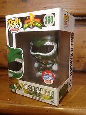 Funko Pop! Power Rangers NYCC Metálico Verde Ranger #360 Vinilo Figura & UV caso