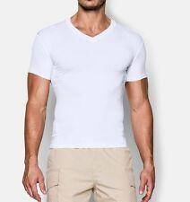 Under Armour UA Men's Tactical Heatgear Compression V NECK T Shirt WHITE 1216010