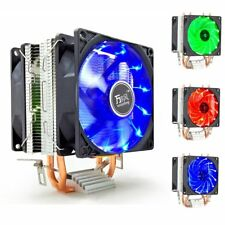 Dual Tower Dual Fan LED CPU Cooler Heatsink For Intel LGA 775 AMD AM3 AM4 Ryzen