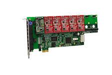 OpenVox A800E15 8 Port Analog PCI-E Base card + 1 FXS + 5 FXO, Ethernet (RJ45)