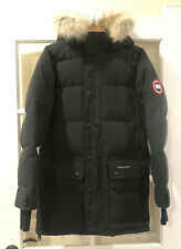 Canada Goose Men's Emory Coyote Fur Hooded Down Parka Black Size Medium $1095