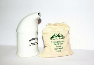 Salt Inhaler with 100% Pure Himalayan Salt crystals 300g in High Quality Ceramic