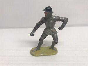 Figurine Old Elastolin Series Medium Age - Knight Without Lance - 7cm
