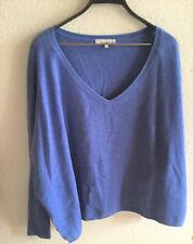 Cashmere Spirit Pullover Kaschmir blau l/XL oversized fast neu Fledermausärmel
